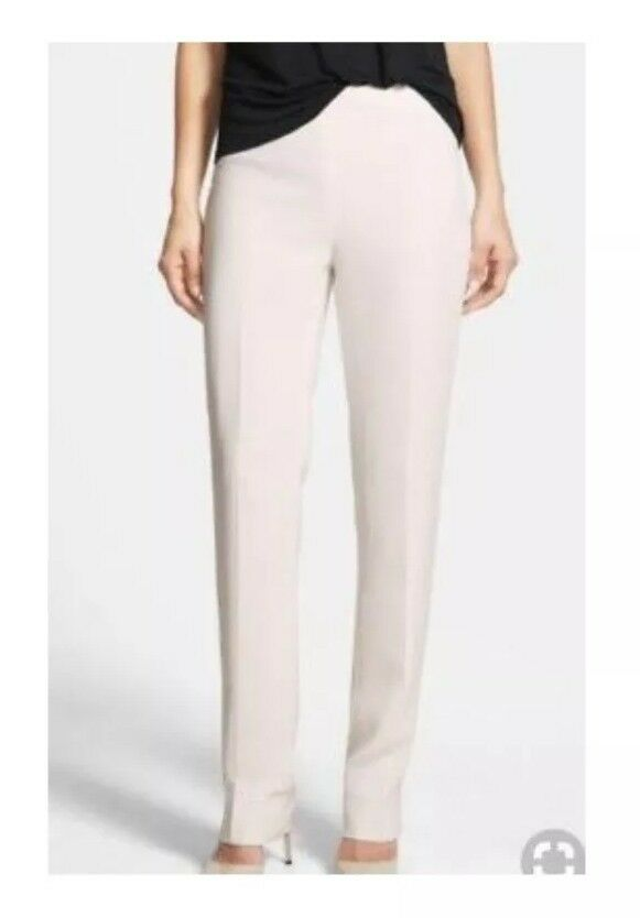 Lafayette 148 Size 4 Petite silk spandex pants fully lined side zip, MSRP  298