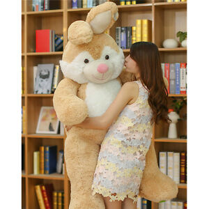 59 Giant Easter Bunny Plush Toy Bed Pillow Soft Rabbit Stuffed