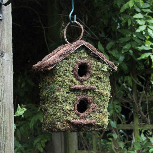 Tradizionale NOVITA /'DA APPENDERE Bird CASSETTE per nido NIDI CASA PICCOLI VOLATILI da giardino
