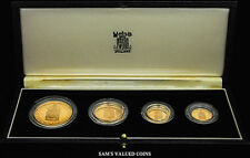1989 UK FIRST GOLD SOVEREIGN 500th ANNIV. GOLD PROOF SOVEREIGN 4 COIN SET