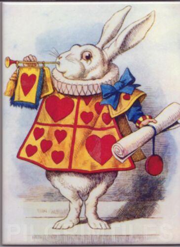"""Alice In Wonderland /""""Rabbit/"""" Tiles  Plaque  Fireplace Kitchen  Bathroom"""
