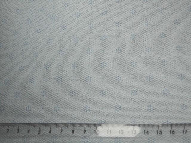 pastell-blaue Blümchen auf blassblau-TAPETE,ideal f. PUPPENSTUBE 1 Bogen:30x53cm