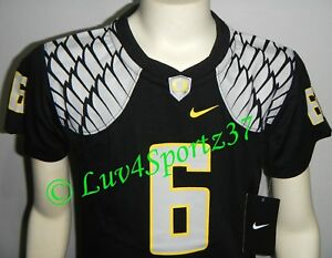 reputable site 95aef 080d9 Details about OREGON DUCKS Wings Black NIKE FOOTBALL JERSEY #6 Nelson KIDS  Preschool 4 or 5