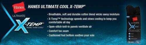 Cushion Sport Work Big Tall Lot Hanes Men/'s X-Temp Active Cool ANKLE Socks
