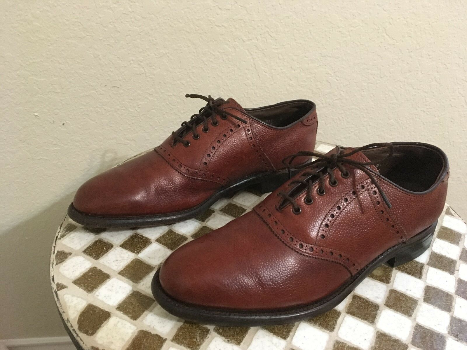 braun LEATHER USA MADE IN USA LEATHER FOOTJOY LACE UP OXFORD POWER schuhe 9.5 D aaeda5