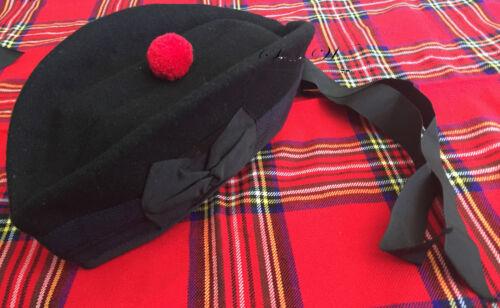 Scozzese Piper Cappello varie taglie e modelli 48-64 Glengarry Cappello di lana pura