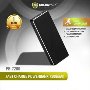 Power Bank 7200mAh Fast Charge Full Protection System FREE 2in1 Micro USB Cable
