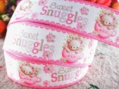 """ITS A GIRL Grosgrain Ribbon Scrapbooks Crafts Cards Baby Shower 7//8/"""" 2 YARDS"""