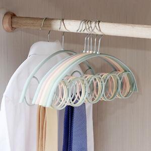 5Ring-Scarf-Holder-Tie-Hanger-Belt-Closet-Clothes-Organizer-Hook-Storage-Fashion