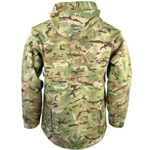 Patriot táctico chaqueta de cáscara suave para hombre S-3XL Abrigo De Lana Forrada Camuflaje Negro