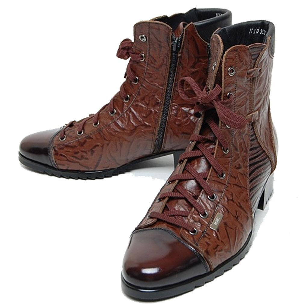 Epicsnob para Hombre Zapatos Cuero Formal Con Cordones Combate Militares Tobillo botas De Trabajo