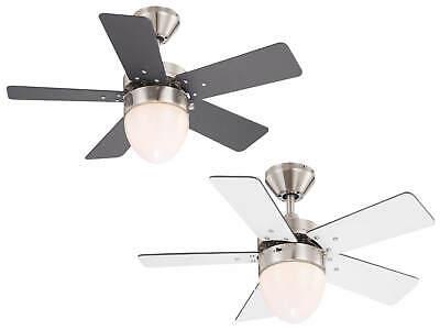 Piccolo Ventilatore a Soffitto Lampada con cordoncino 105 cm CLASSIC Nichel//Argento