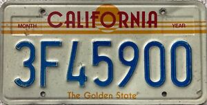 California-Sunrise-American-License-USA-Licence-Number-Plate-Tag-3F45900