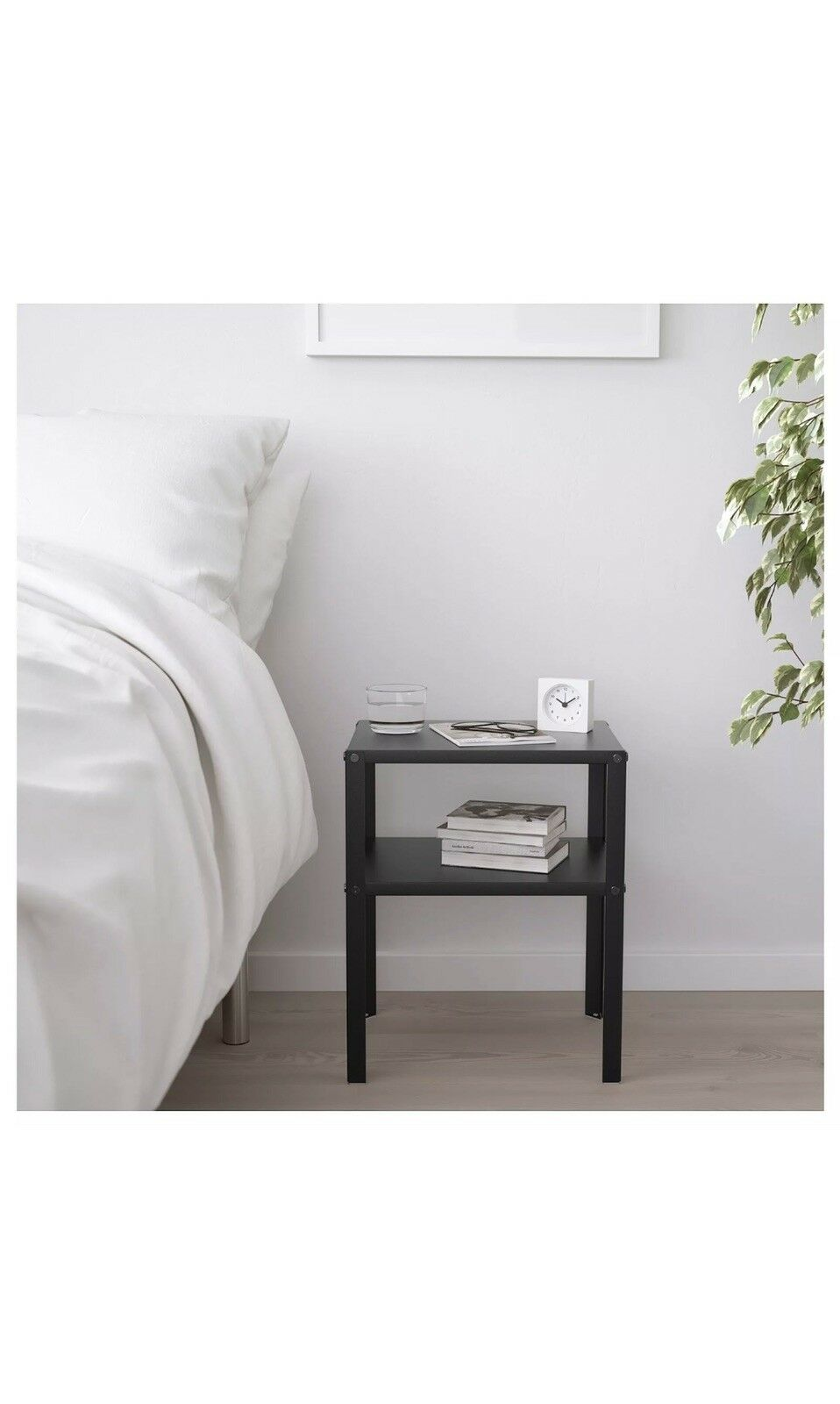 Picture of: Ikea Knarrevik 403 867 31 Metal Bedside Table Black For Sale Online Ebay
