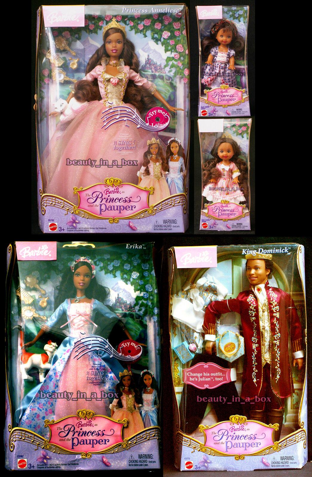 Muñeca Barbie Kritsaralam Erika Dominick African American PRINCESS PAUPER AA  Lote 5