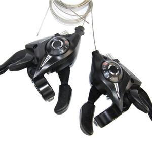 SHIMANO-MTB-Bike-Brake-Levers-Set-Brake-Shifter-Shift-3x8-Speed-ST-EF51-8-Black