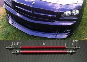 "Red 4/""-7/"" Struts Shock Rod Bar for Audi BMW Bumper Lip Diffuser Spoiler"