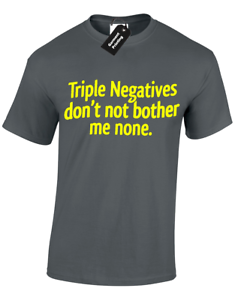 5XL TRIPLE NEGATIVES MENS T SHIRT DON/'T BOTHER ME NONE NOVELTY HUMOUR GIFT  S
