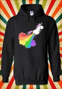 Rainbow-Fly-unicorn-Pet-Drole-Cool-Hommes-Femmes-Unisexe-Top-Sweat-A-Capuche-Sweat-2184