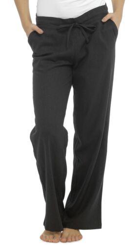 Tom Franks Linen Blend Full Length Trousers with Ribbed Waist