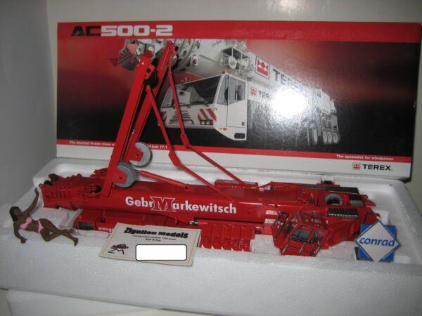 Analitico Terex Ac 500-2 Auto Gru Gebr. Markewitsch #2098.16 Conrad 1:50 Ovp