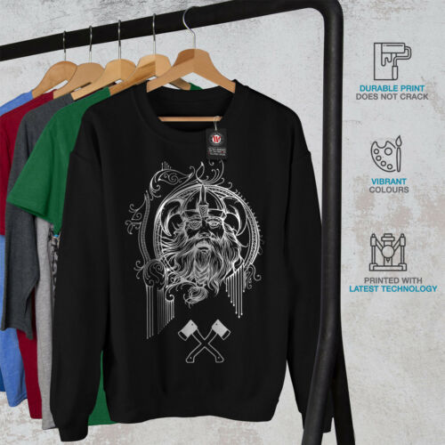 Viking Face Warrior Men Sweatshirt NEWWellcoda