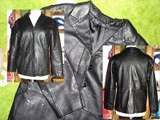 * Leder Jacke Lederjacke Nappa 100%original Sakko Blazer klassisch schwarz Gr 38