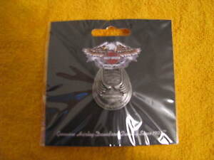 Genuine-Harley-Davidson-105th-An-Pewter-Pin-SEALED-NOC-NEW-on-Card-NOS
