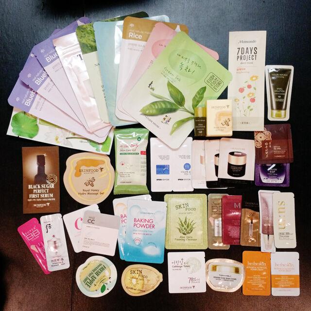 25PCS Mixed Korean Cosmetic Samples!ETUDE HOUSE+TONY MOLY+MISSHA+SKINFOOD+GIFTS