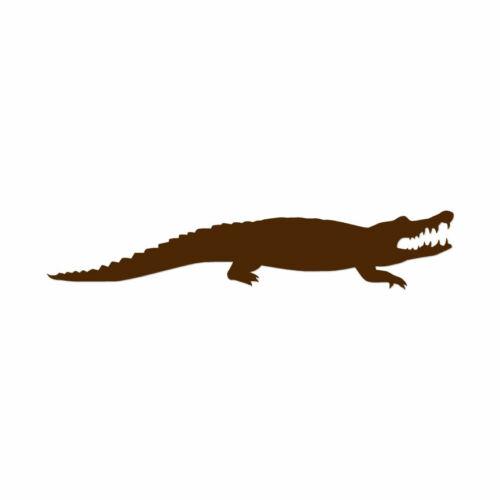 Multiple Colors /& Sizes ebn2859 Alligator Crocodile Vinyl Decal Sticker