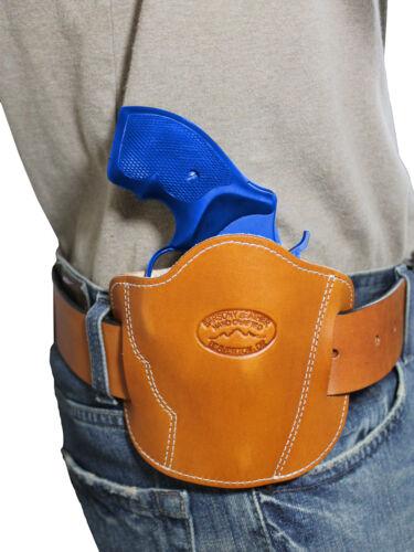 "New Barsony Saddle Tan Leather Pancake Slide Holster for Snub Nose 2/"" Revolvers"