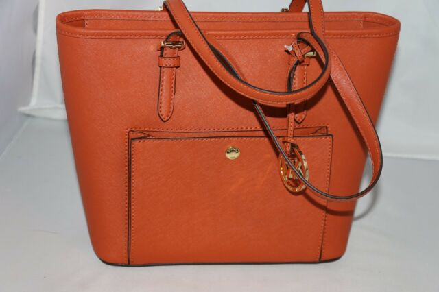 e2491b802f78 Michael Kors Jet Set Item Medium Top Zip Snap Pocket Tote Saffiano ...
