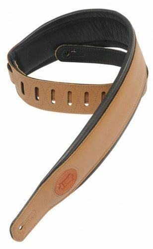 Levy's MSS2-TAN 2.5  Padded leather Guitar Strap Tan