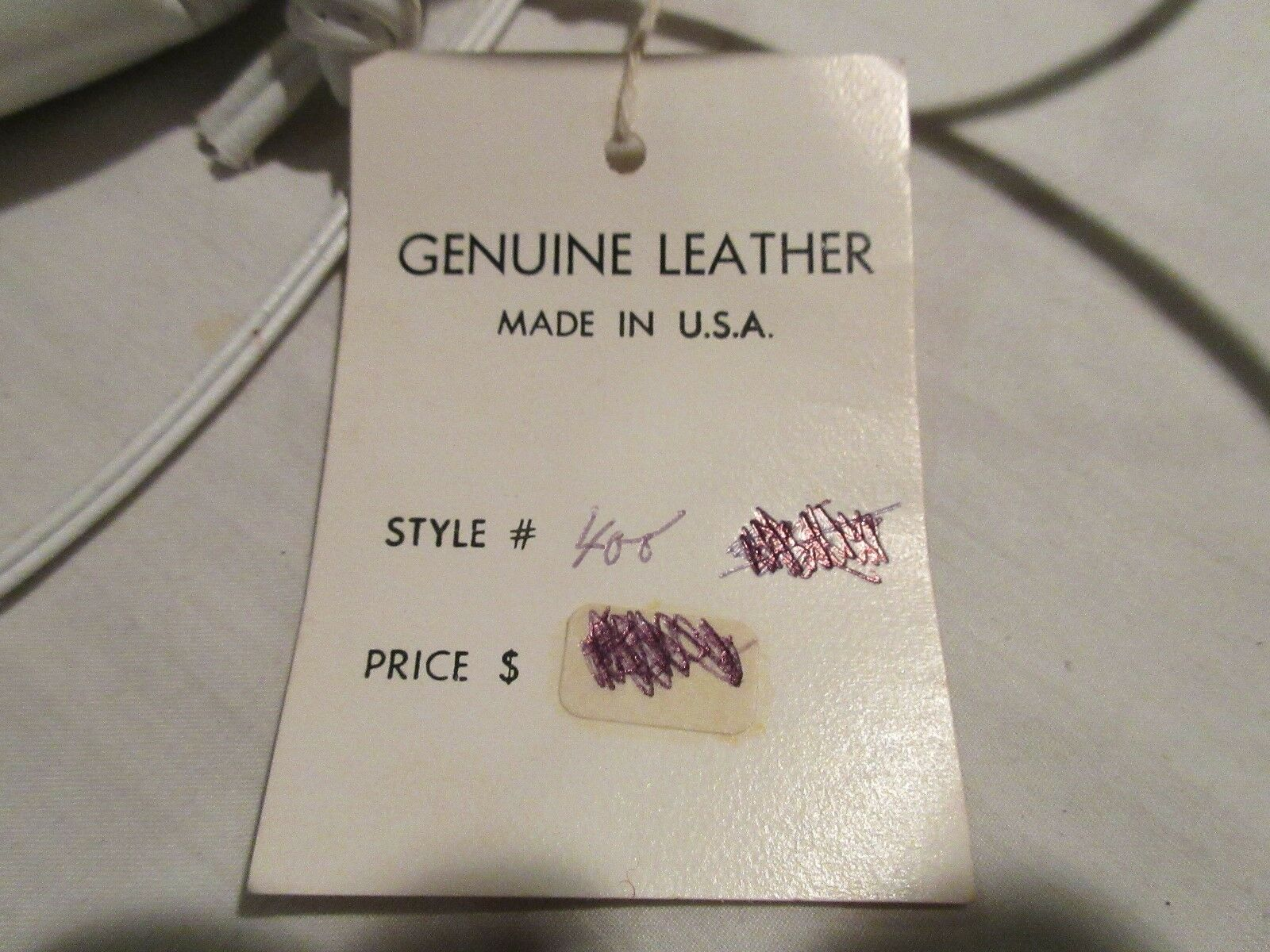 """Pinky , Genuine Leather , Vintage ,10""""X10"""" ,New/Old ,Wh"""