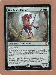 DEATHMIST RAPTOR Dragons of Tarkir MTG Green Creature ?Lizard Beast Mythic Rare