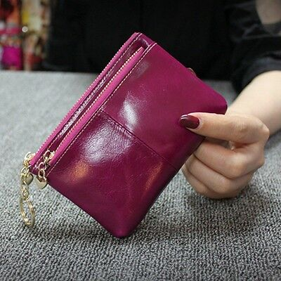 New Women's Key Holder Wallet Mini Genuine Leather Purse Lady Coin Case Bag