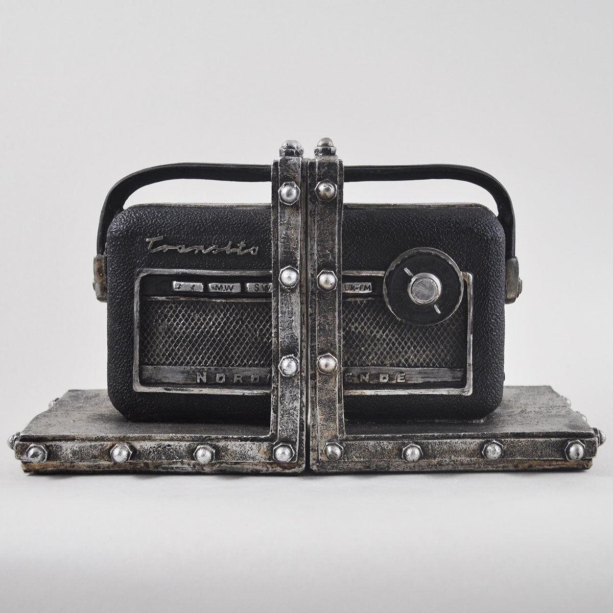 Vintage Nordmende Transistor Radio Themed Bookends.Sculpture   Figurine.New
