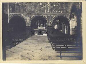 Interno Un Chiesa Venezia? Italia Foto Amateur Vintage Analogica Ca 1900