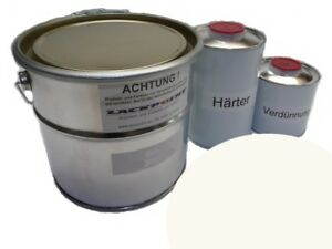 1-75-litri-Set-2K-vernice-auto-DDR-Toga-Bianca-No-rivestimento-trasparente-IFA