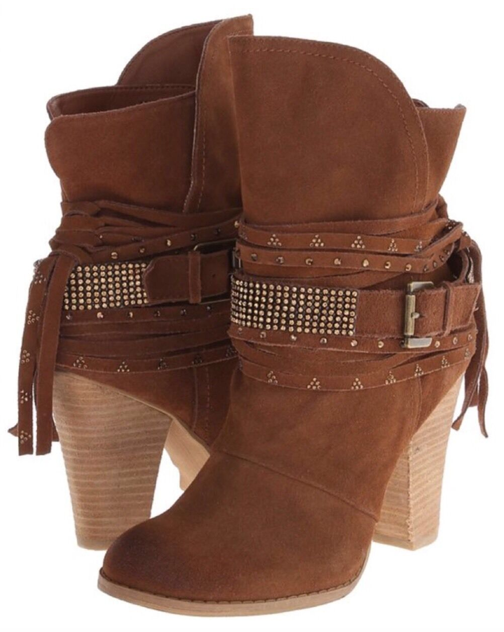 NEW Suede Naughty Monkey Santana Anna Suede NEW Boots Size 10 Rhinestone Bling 1eef4d