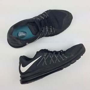 reputable site 79a29 66dbf Image is loading Nike-Air-Max-2015-Running-Sneakers-Triple-Black-