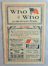 Rare 1917 Magazine Who Is Who In the Grain Trade Reference Buffalo Convention+
