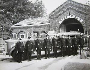 Vintage-Riverside-CA-Fire-Department-Truck-Photo-Station-3-Original-1950-039-s