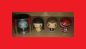 Funko pinta tamaño MMPR Power Rangers Zordon, desenmasCocheado Amarillo y blancoo, Rojo Metálico