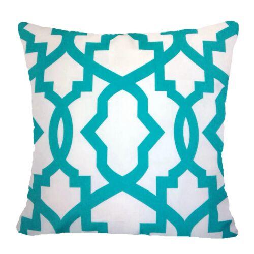 "Velvet Cushion COVER 20x20/"" Turquoise Blue Soft  Home Decor Sofa Bed Pillow Case"