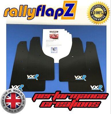 rallyflapZ VAUXHALL CORSA D VXR 06-14 Mud Flaps Kit Black 4mm PVC Badge Red
