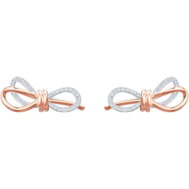 Swarovski 5447089 Lifelong Bow Pierced Earrings Nib 100 Authentic