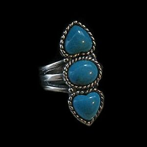 925-Sterling-Silver-Natural-Turquoise-Heart-Ring-size-6-5