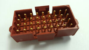 173981-3 196 PIECE LOT TYCO Conn Shrouded HDR 3 POS 2mm Solder ST Thru-Hole