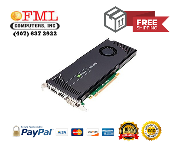 NVIDIA Quadro 4000 2GB PCIe 2.0 x16 GDDR5 Video Graphics Card WS095AA